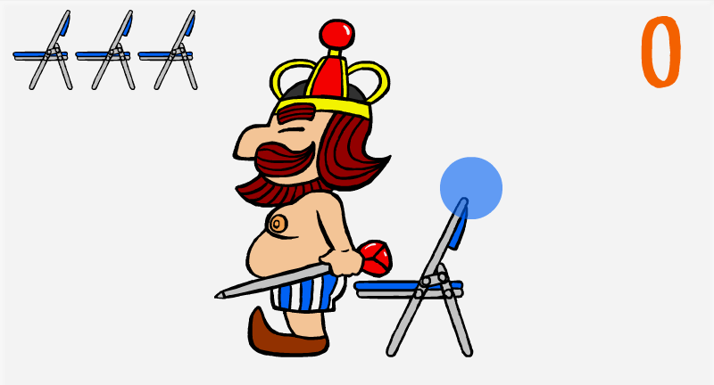 王様と椅子-基本画面