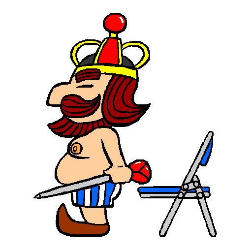 王様と椅子